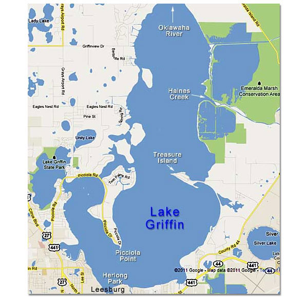 Harris Chain Lake Griffin Map
